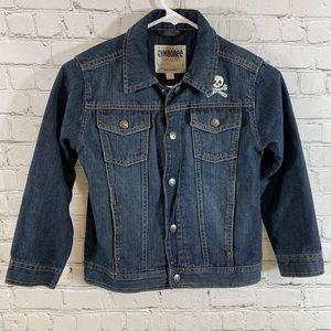 Boys Gymboree Skull Denim Jean Jacket Size S (5-6)
